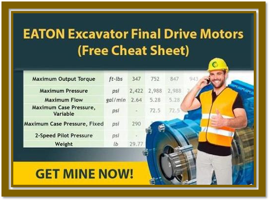 EATON Excavator Final Drive Motors Cheat Sheet CTA