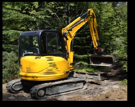 mini-excavator-compact-excavator-clean-bucket-trees-tracks