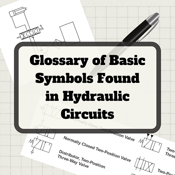 Glossary of Basic Symbols Found in Hydraulic Circuits