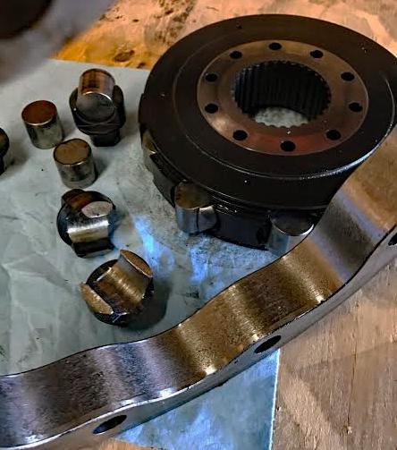 damged-radial-piston-motor-rotator-group