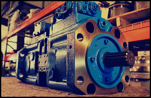 An Eaton hydraulic pump available at Texas Final Drive.