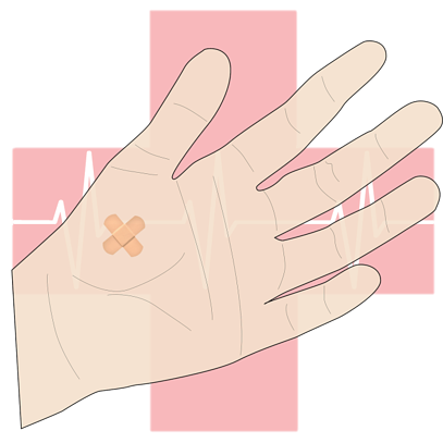 A band-aid is not enough! Hydraulic fluid injections require medical attention.