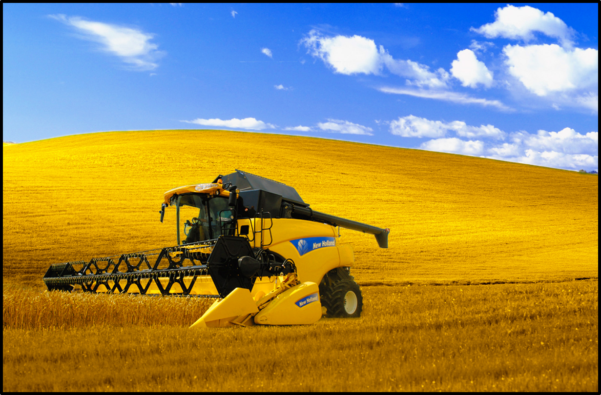 New Holland heavy machinery agriculture