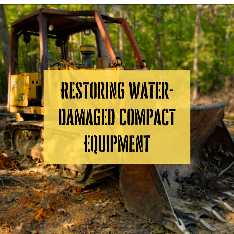 Restoring water damaged compact equipment