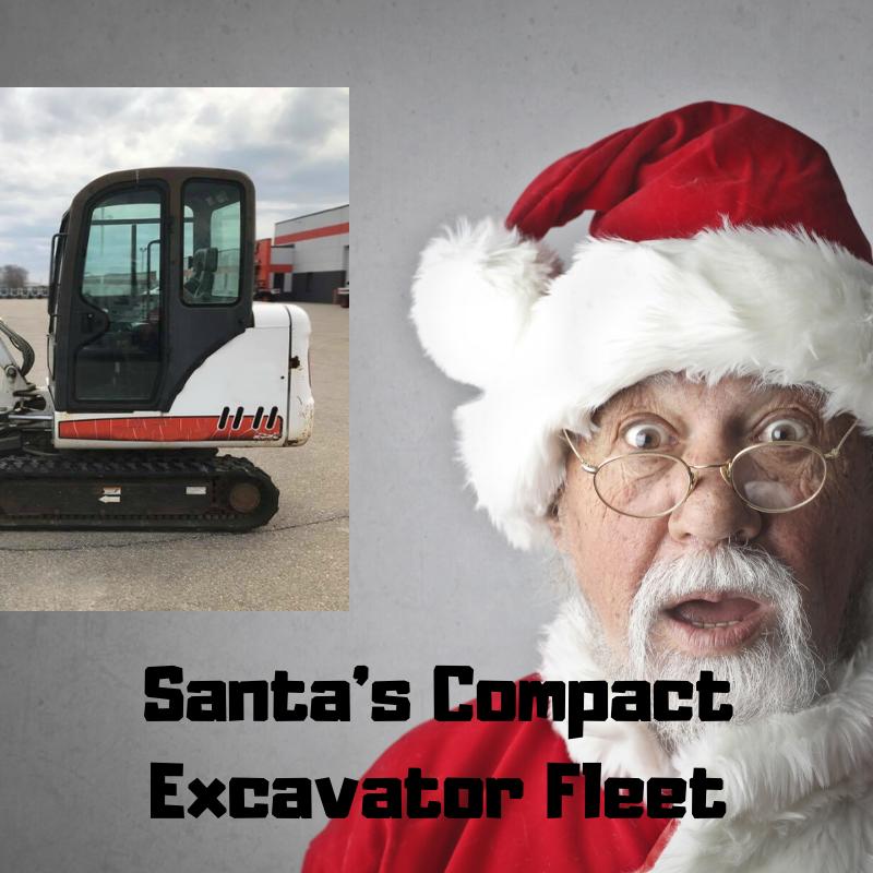 Santas Compact Excavator Fleet