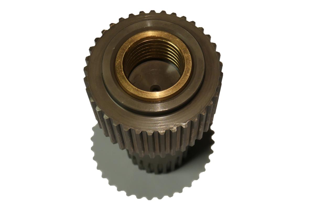 Final drive brake shaft with brass bushing