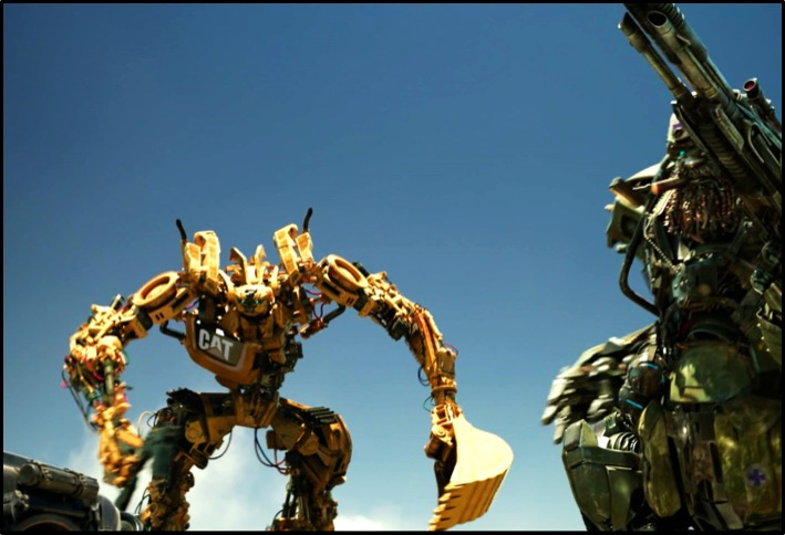 Trench, the CAT 320 Autobot from Transformers, the Last Knight