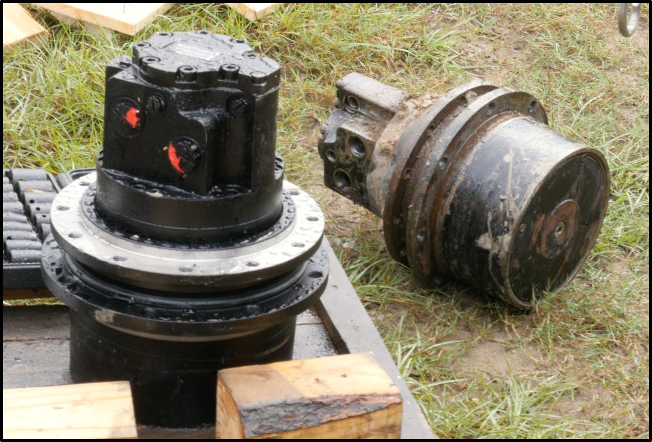 final drive motors during removal and installation